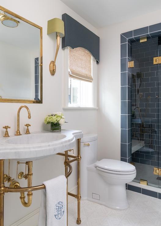 navy blue shower tiles design ideas