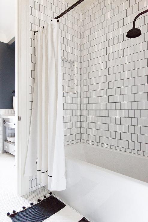 diy shower curtain rail design ideas