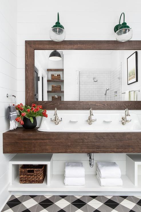 farmhouse bathroom vanity cottage
