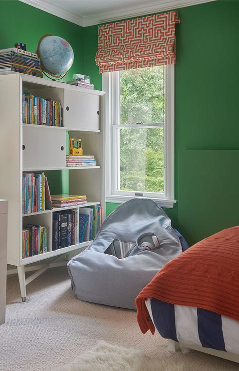 red green and blue boys room