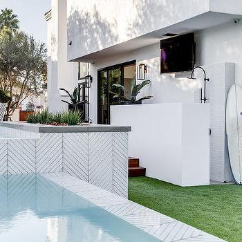 above ground tiled spa design ideas
