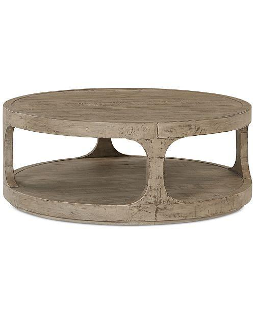 derevo round weathered gray wood coffee