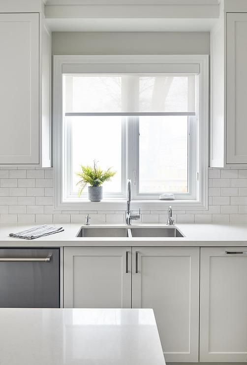 white subway tiles with light gray