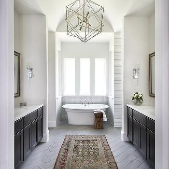 Brass Polyhedron Bathroom Chandelier Design Ideas
