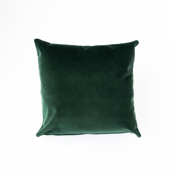 emerald velvet lumbar accent pillow