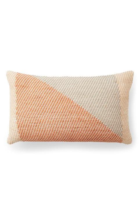 minna angle orange colorblock lumbar pillow