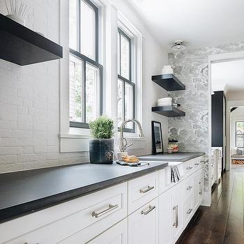 Gray Brick Backsplash Design Ideas
