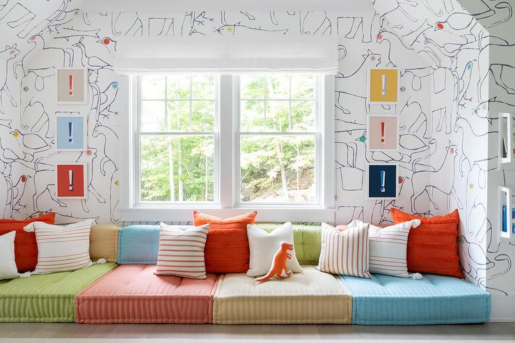 colorful lounge cushions contemporary