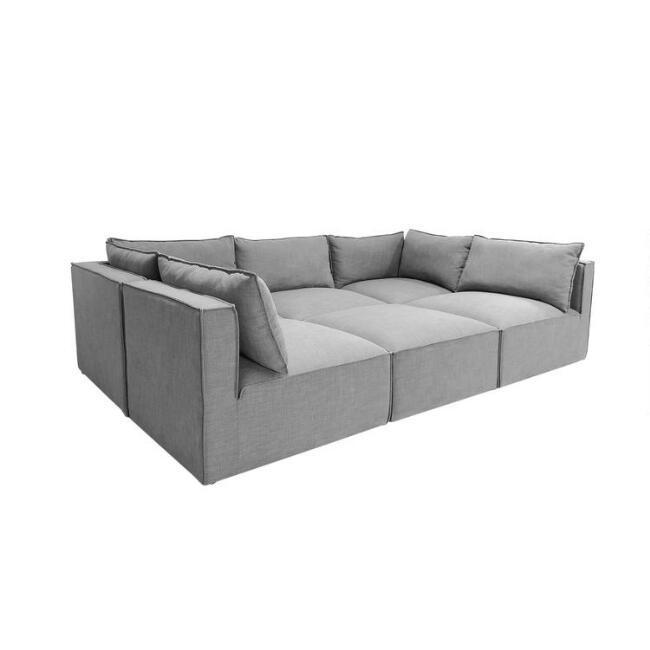 tyson gray 6 piece modular pit