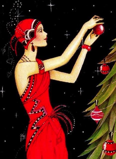 Vintage Christmas Cards 1920s Inspired Holiday Cards
