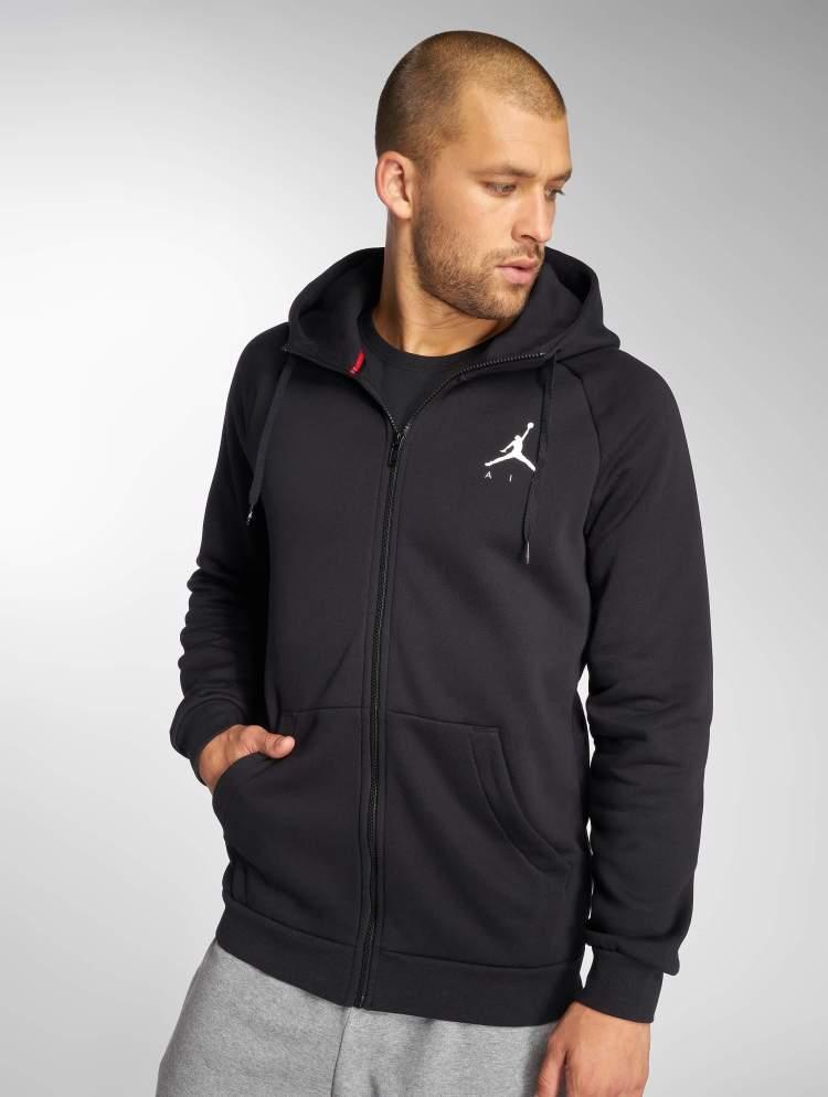 Jordan Männer Zip Hoodie Sportswear Jumpman Fleece in schwarz