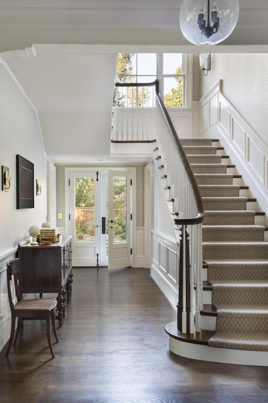 New Tennessee Style Farmhouse Front Staircase By Tim Barber Ltd Lookbook Dering Hall