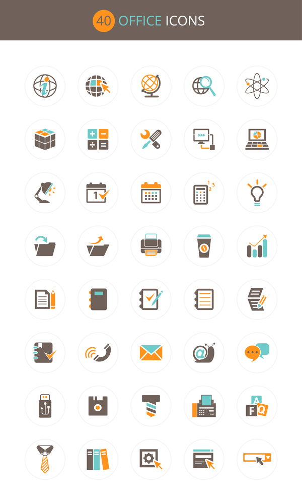 Download Free Download : Office Icon Set (40 icons - PSD , AI , EPS ...