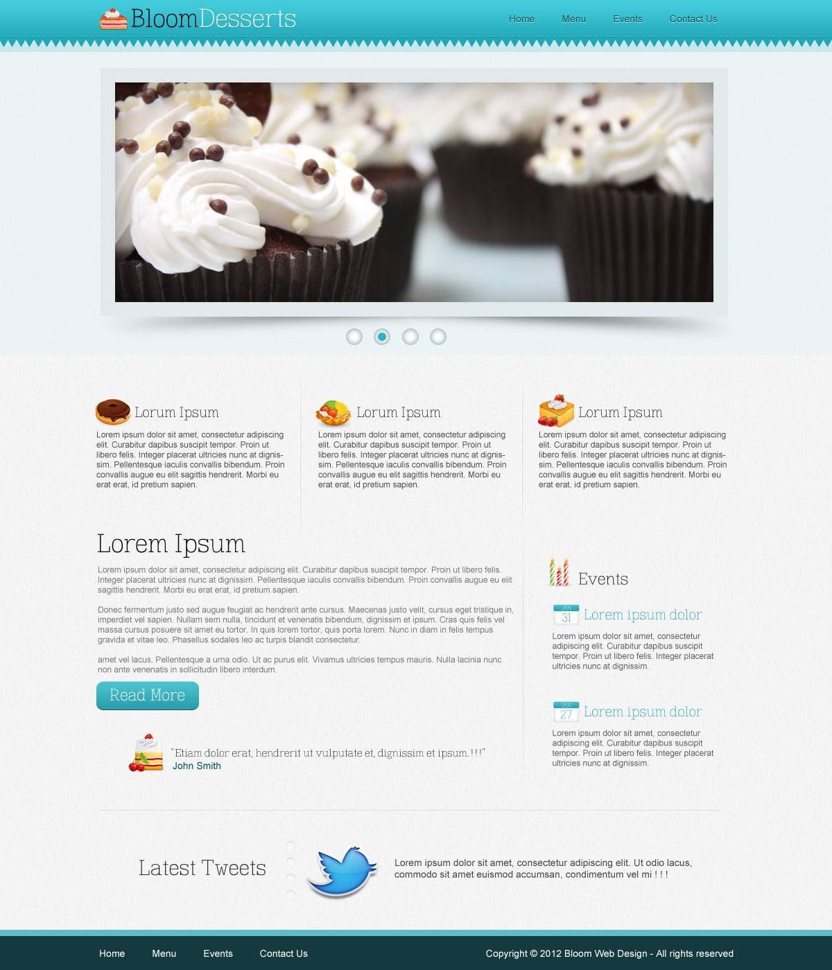 Design A Food Cafe Website Template In Photoshop Free Psd