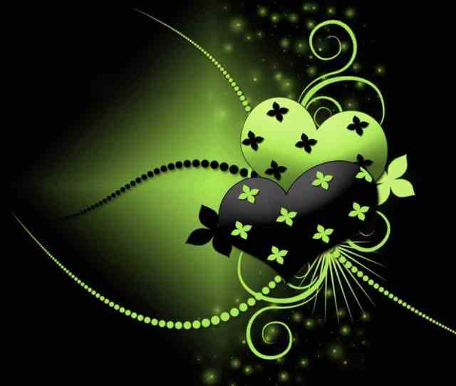 Love Wallpapers Black And Green
