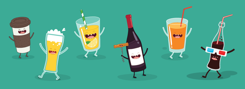 50 Tea Coffee Juice Beer And Wine Logo Designs To Drink