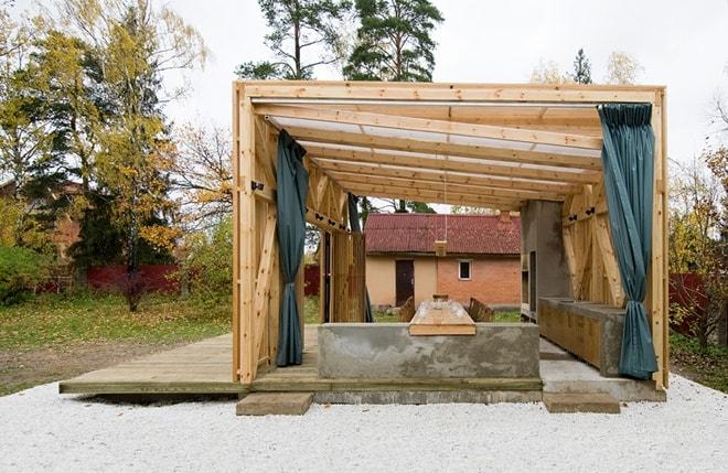 Open Air Pergola Structure By Kerimov Prishin Architects
