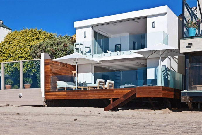 Beautiful Modern House With Wooden Terrace Connected To
