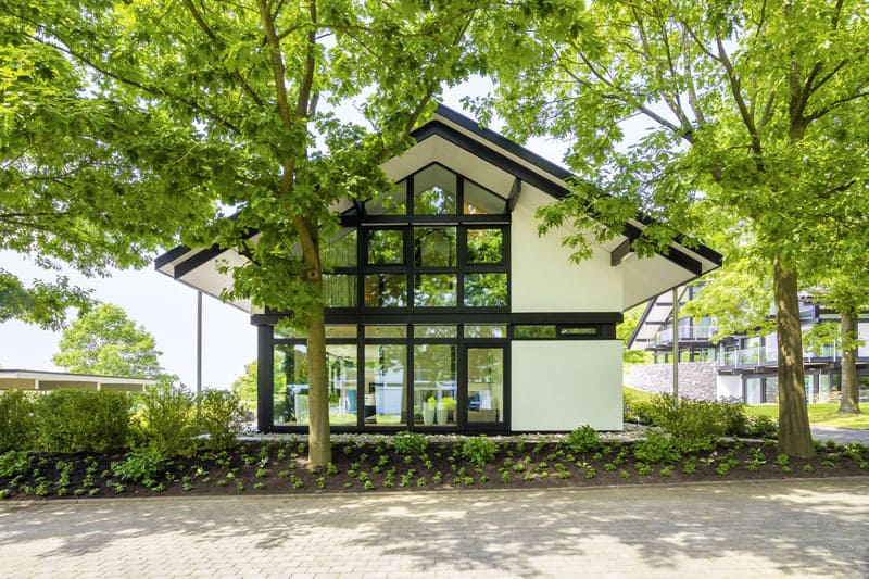 Modern Timber House With Glass Facade By Huf Haus, Germany