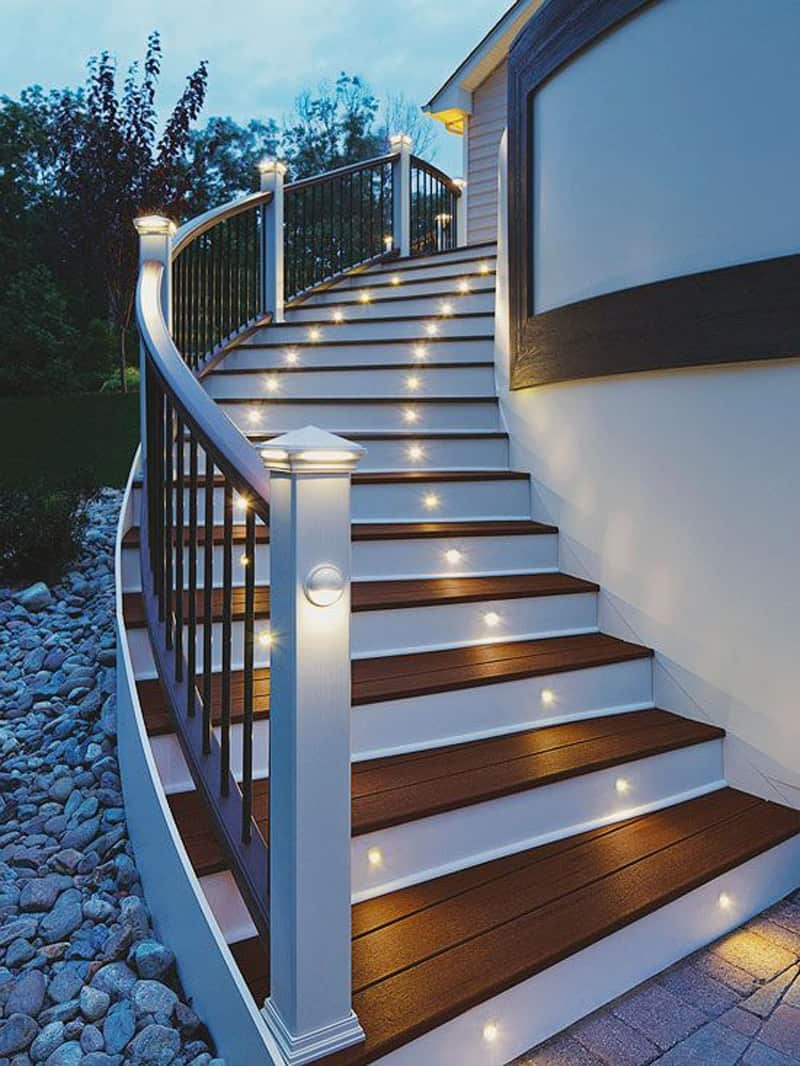 15 Attractive Step Lighting Ideas For Outdoor Spaces | Outside Stairs Design For House