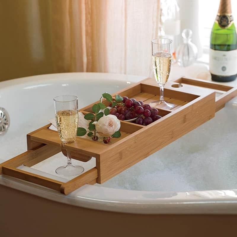 22 Cool Bathtub Caddies Or Marvelous Bathtub Tray Design Ideas To Enjoy Every Moment
