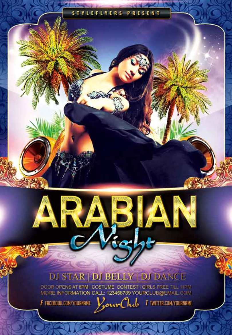 Arabian-Night-Party-PSD-Flyer-free