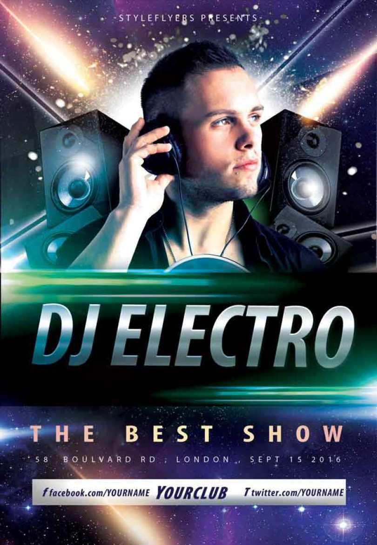 DJ-Electro-Flyer-PSD