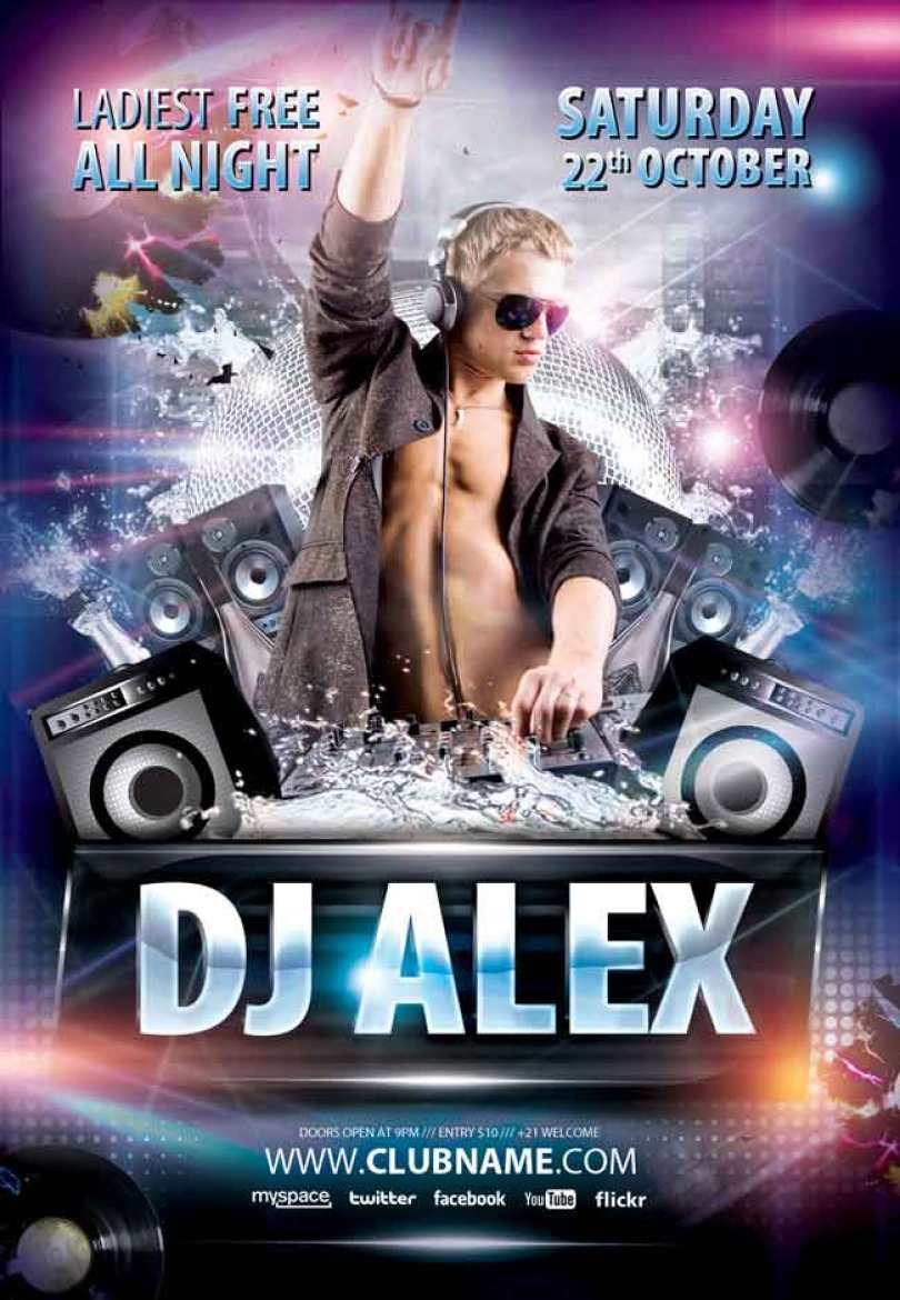 Free-Dj-Alex-PSD-Flyer