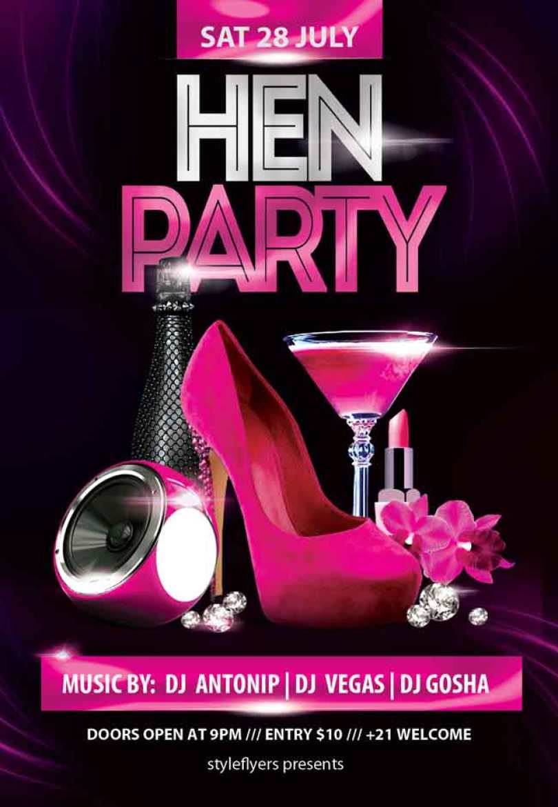 Hen-Party-Flyer-PSD-free