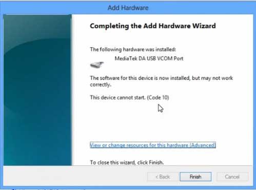 SP Flash Tool VCOM Driver Installation