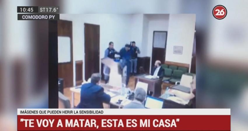 Preso amenazó a juez y fiscal: