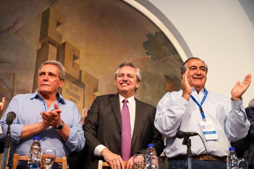 Alberto Fernández junto a CGT: