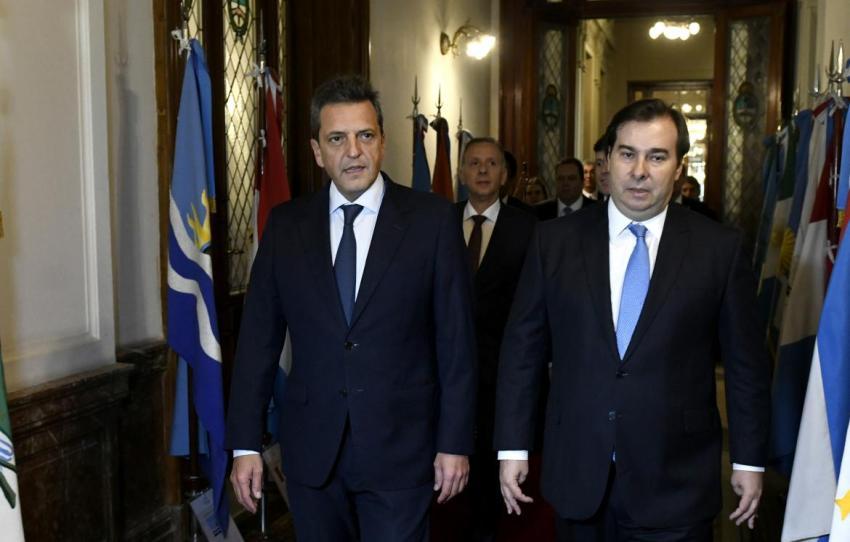 Massa con presidente de Cámara de Diputados de Brasil: