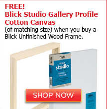 Free Blick Studio Gallery Profile Cotton Canvas when you buy a Blick Unfinished Wood Frame