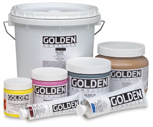 Golden Heavy Body Artist Acrylics, 1500 Primary Cyan, 4 oz