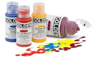 Golden Fluid Acrylics, 2420 Primary Cyan, 1 oz