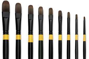 Utrecht Manglon Synthetic Brushes