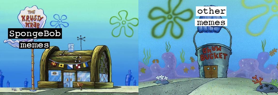 M Patrick Looking Down Menacingly Meme Spongebob Larger Spiral
