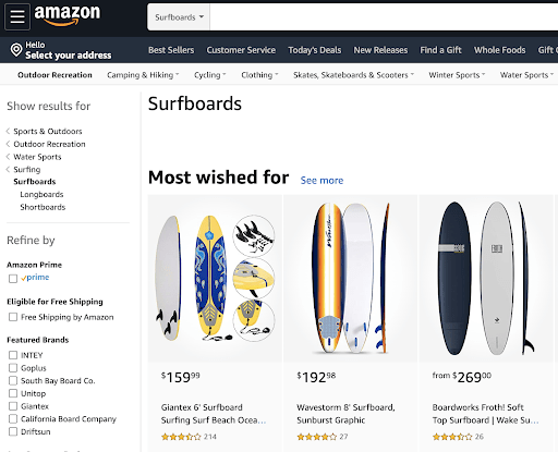 South Bay Board Co sur Amazon