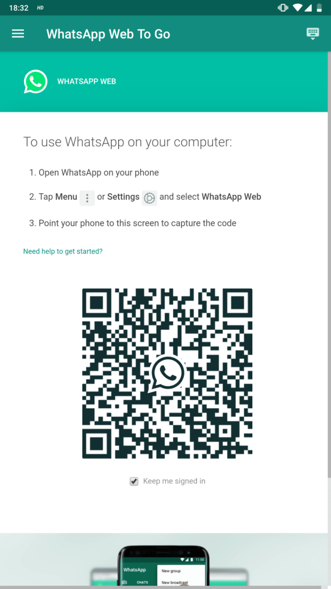 WhatsApp Web App Download for Android 1