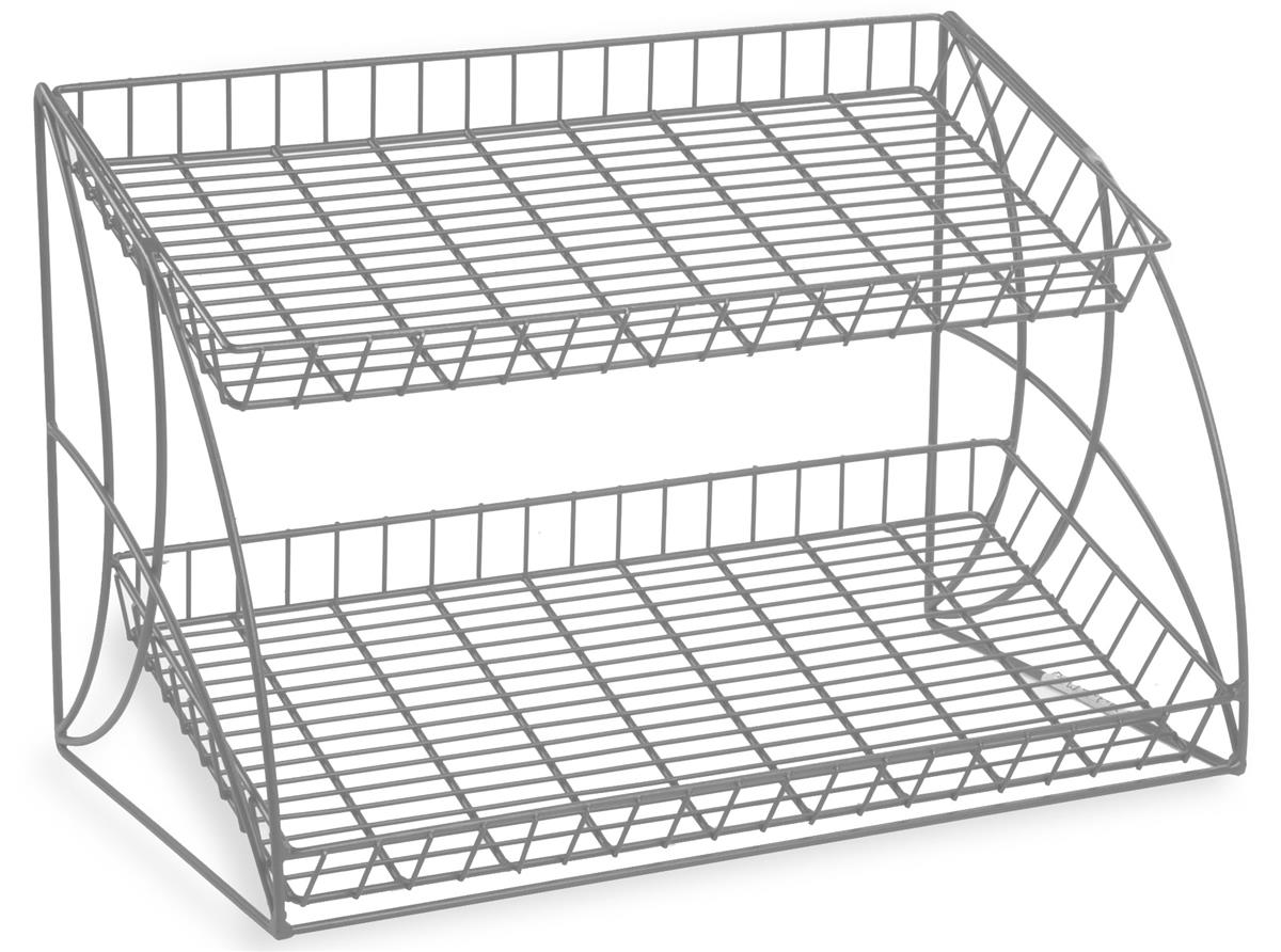 Silver Wire Counter Racks