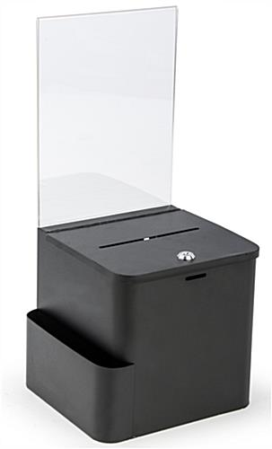 Black Ballot Box With Sign Holder Wall Mounting Amp Locking