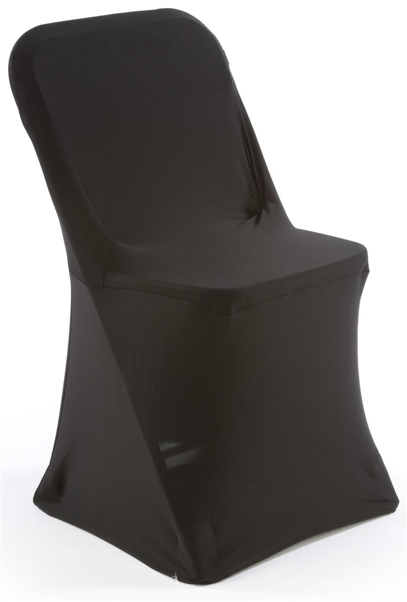 Black Stretch Chair Cover Folding Seat Slipcover