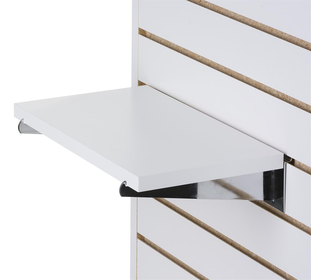 8 X 14 Slatwall Shelves With Brackets Set Of 4 White