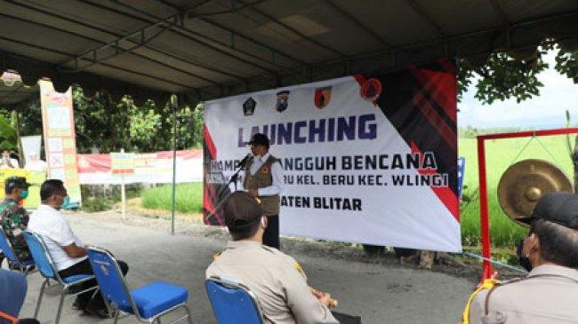 Bupati Blitar Resmikan Kampung Tangguh Bencana di Kecamatan Wlingi
