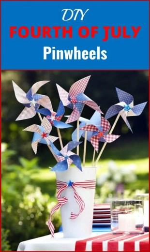DIY Fourth of July Pinwheels