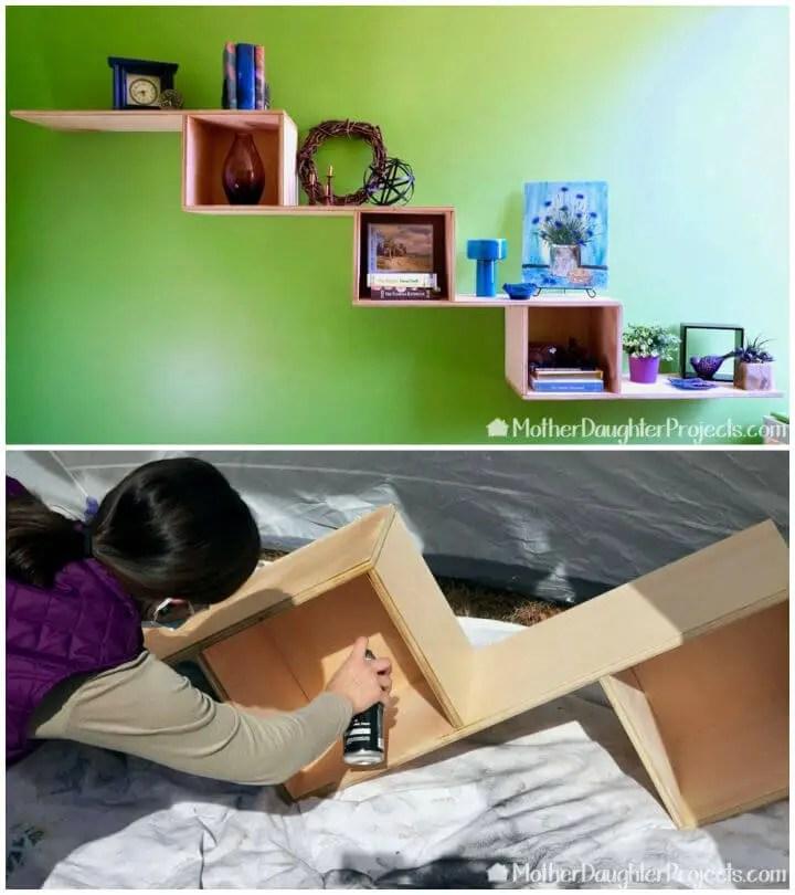 DIY One Sheet of Plywood Floating Shelf