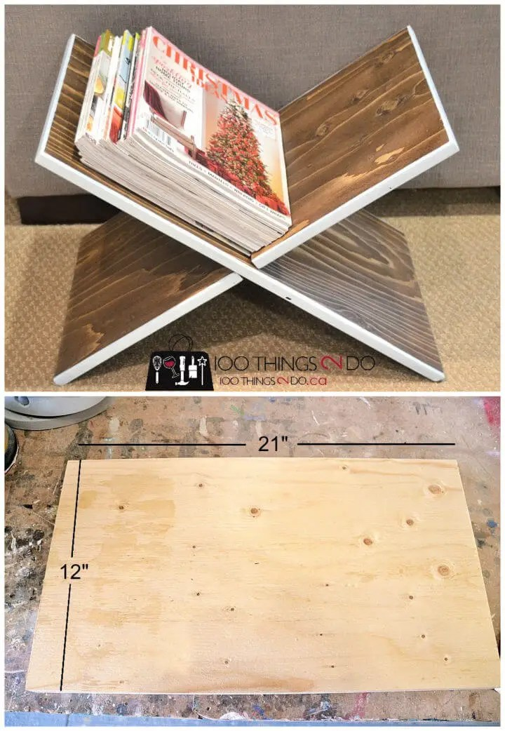 Super Easy DIY Magazine Rack