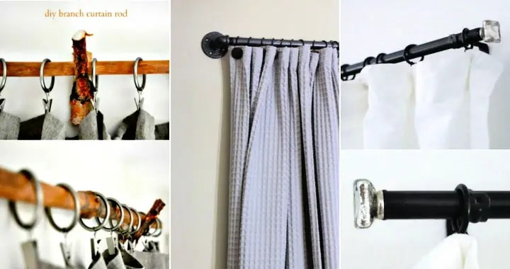 30 cheap diy curtain rods and hooks to