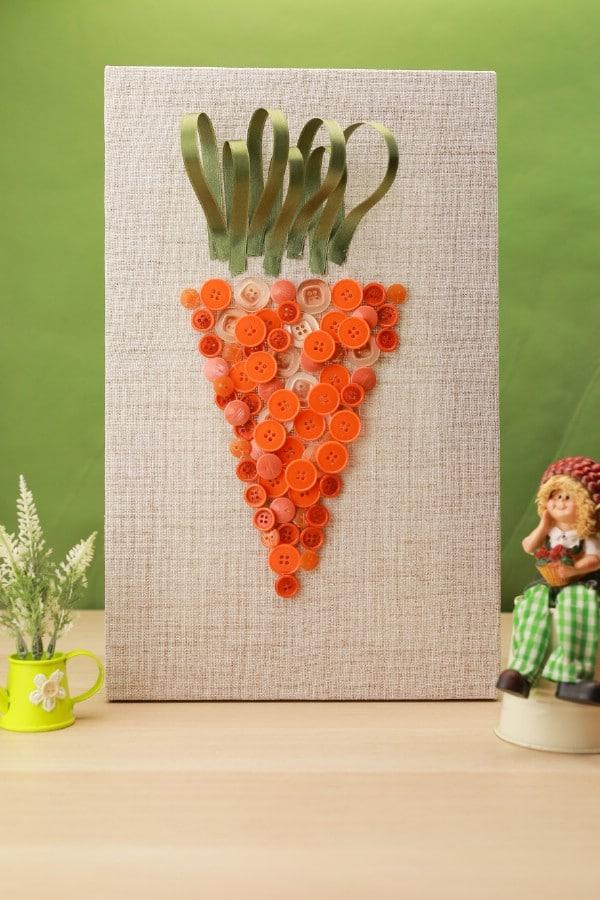 Easy DIY Easter Carrot Wall Art